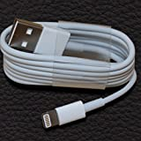 iOS 8 Certified Lightning Cable for Phone 6 iPhone 5 5s iPad Lightning Certified USB Charger Cable Data Sync 1m(1Meter) 2m(2Meter) 3m(3Meter) - iOS 8 Certified Compatible (3Meter, White)
