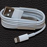(1 Meter WHITE) 8 Pin USB Charger chargi...