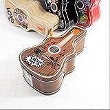 Whyyudan Spardose Geschenkbox Geld Banken Hip Hop Gitarre Sparschwein Amazing Weißblech Candy Jar mit Schloss (Brown)