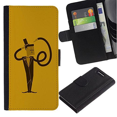 Lead-Star (Funny Spiral Flexible Man) Colorful Portafoglio In Pelle Stampa Per Copertura Cassa Caso Case Pelle Per Sony Xperia Z1 Compact / Z1 Mini / D5503