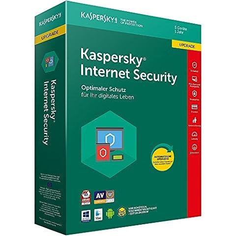 Kaspersky Internet Security 2018 Upgrade | 5 Geräte | 1 Jahr | Download