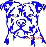 Staffordshire Bullterrier Größe 25cm x 25cm (Blau)