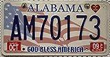USA Nummernschild ALABAMA ~ US Kennzeichen GOD BLESS AMERICA ~ Blechschild