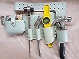 aus reinem Leder Werkzeug Gürtel sichtbar Farbe–6in 1-Doppel-Maulschlüssel + Einzel Maulschlüssel Frosch Level Tape Hammerhalter Original Qualität 4Professional Gerüstbau Top Beste Qualität UK -