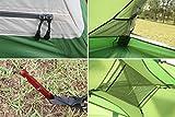 GEERTOP Kuppelzelt Campingzelt Familienzelt Trekkingzelt Aluminiumstangen Wasserdichten - 140 x 210 x 115 cm (2,59kg) - Zwei Personen 4 Jahreszeiten Ideal für Camping Wandern Reisen und Klettern (Grün) -