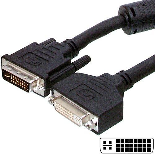 4-punkt-dual-link (10m–DVI-I-Verlängerungskabel, Stecker/Stecker auf Buchse/Buchse Stecker führen/Draht–Dual Link–Cablefinder)