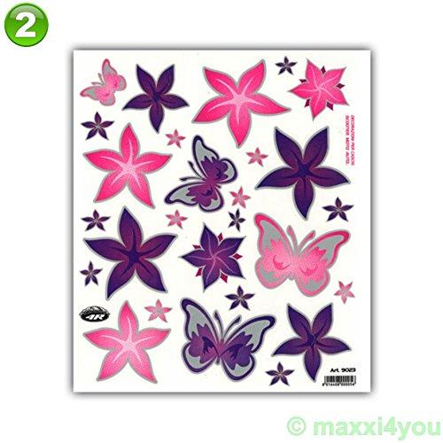 01300700-2 Fahrrad Rahmenaufkleber Rahmensticker Aufkleber Schmetterlinge/Blumen