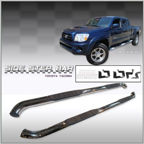 toyota-tacoma-double-cab-side-step-nerf-bars-stainless-steel-fits-2005-2006-2007-2008-2009-2010-2011