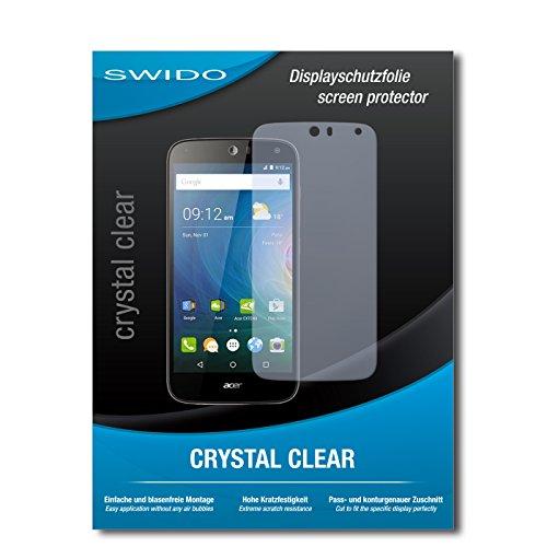 SWIDO Displayschutz für Acer Liquid Z630 [4 Stück] Kristall-Klar, Hoher Härtegrad, Schutz vor Öl, Staub und Kratzer/Schutzfolie, Displayschutzfolie, Panzerglas Folie