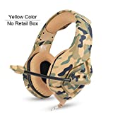 PS4 Gaming Headset Wired PC Stereo Earphones Headphones with Microphone for New Xbox One/Laptop Tablet Gamer,Yellow No Retail Box