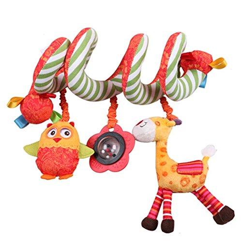 Hessie - Baby Activityspirale Anhänger für Babyschale/Kinderwagen Eule und Giraffe