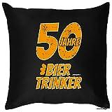 Zum 50. Geburtstag! Kissen mit Füllung - 50 Jahre Biertrinker - Ein originelles Geschenk zum 50ger! Jahrgang 1965