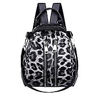 Womens Handbags, Girl Leather Leopard Print School Backpack Satchel Travel Shoulder Bag