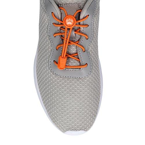 Bearformance Schnürsenkel mit Schnellverschluss Elastische Sportschnürsenkel - Schnellschnürsystem schleifenlos ohne binden (Orange)