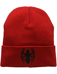 Marvel Unisex Spider-Man-Logo-Kids Beanie, Red, One Size
