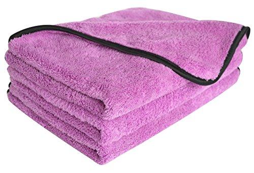 Sinland serviettes microfibre de nettoyage polissage de voiture séchage rapide ultra doux chiffon en voiture épilation à la cire 40x60cm lot de 3 Violet