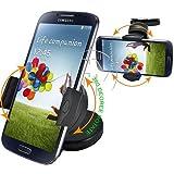 Armaturenbrett-Halterung Samsung Galaxy S4,S5,S6,S7,S7Edge, iPhone 4,5,6,7Plus und alle anderen Handys, HTC, Windschutzscheiben-Saugnapfhalterung, Kit mit 360 Grad Rotations-Funktion
