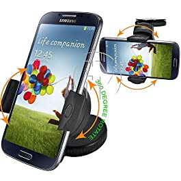 Original Dashborad Holder Samsung Galaxy S4 S5 S6 S7 S7 EDGE IPHONE 4 5 6 7 PLUS AND ALL OTHER PHONES HTC Car Windscreen Suction Mount Holder Cradle Kit With 360° Degree Rotation Feature