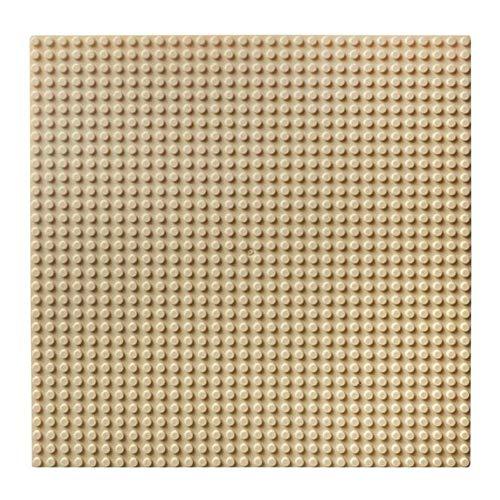 32x32 Dot Grundplatte Große Größe Große Grundplatte Bodenplatte für Figur DIY Baustein Spielzeug 100% Kompatibel mit Lego (4 Packung),beige - Lego Großen Grundplatten