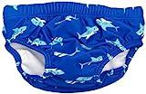 Playshoes Baby - Jungen Schwimmbekleidung 460120 Badewindel, Badehose, Schwimmwindel Hai von Playshoes mit höchstem UV-Schutz nach Standard 801 und Oeko-Tex Standard 100, Gr. 74/80, Blau (original)
