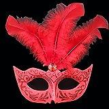 Kaige Maske Masquerade Ball Maske Feder Maske Halloween Weihnachten Requisiten