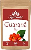 Guarana Pulver Bio (100g) - JoJu Fruits - (Vegan, Glutenfrei, Rohkost) - Superfood aus Bio Guarana