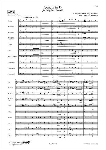 Descargar Libro PARTITURA CLASICA - Sonata in D - A. CORELLI - Philip Jones Ensemble de Unknown