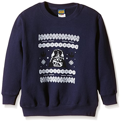 Star Wars - Christmas Darth Vader Knit, Felpa da uomo, blu (marineblau), M