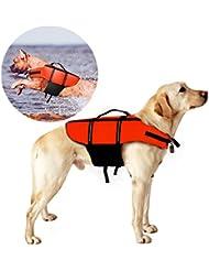 Chaleco Salvavidas Para Perro, Poppypet Perro Mascota Chaleco Salvavidas Aumentar la Visibilidad para Perro,