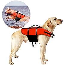 Chaleco Salvavidas Para Perro, Migimi Perro Mascota Chaleco Salvavidas Aumentar la Visibilidad para Perro, para la Vida Cotidiana, Alta Ayuda, Flotación, Chaleco Salvavidas para Perro - Orange, L