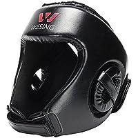 Máscara profesional de boxeo, para artes marciales., color negro, tamaño Small