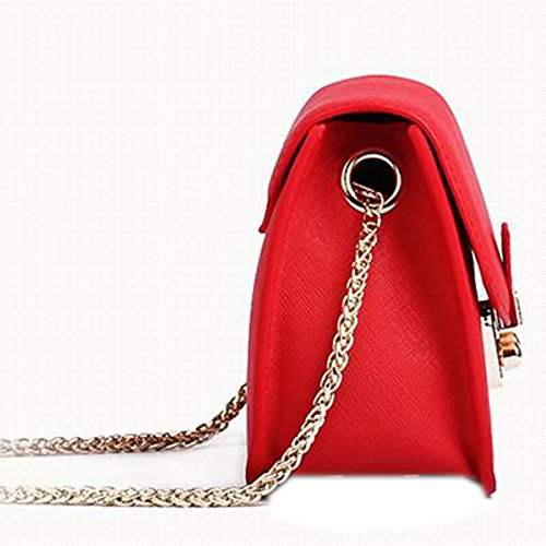 WU Zhi Lady In Pelle Piccola Borsa Quadrata Spalla Messenger Bag Red