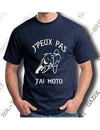 Gazol T-Shirt Motard Humour. J peux Pas J Ai Moto. 76a3e4ef674b