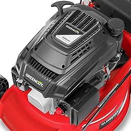Greencut GLM660SX – Tondeuse à gazon de traction manuelle 407mm moteur essence 139cc 5cv