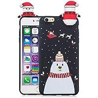 Christmas Funda iPhone 5S,Carcasa iPhone SE Silicona,Okssud Pintado Serie de Navidad 3D Diseño Cover Monigote de Nieve Patrón TPU Case para iPhone 5S/SE
