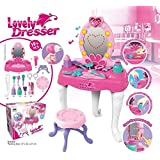 Toyshine Girls Pretend Play Lovely Dressing Table Set With Music And Lights