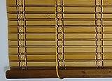 Jalousie holz / Jalousie fenster / Jalousie fenster / Jalousie bambus, breite x länge = (150 x 135 cm, Braun) - 5