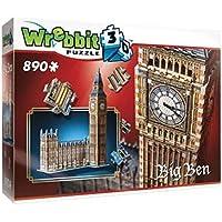Wrebbit W3D-2002 - Puzzle 3D Big Ben, 890 Pezzi