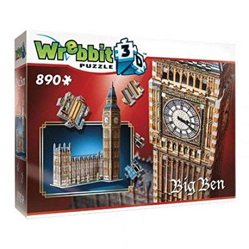 Wrebbit 3D W3D-2002 - Big Ben und House Of Parliament - Queen Elisabeth Tower, 3D-Puzzle (Echte 3d-puzzles)