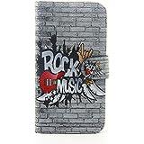 Voguecase® Pour Samsung Galaxy S7 Edge Coque, Etui Housse Cuir Portefeuille Case Cover (Rock Music)de Gratuit stylet l'écran aléatoire universelle