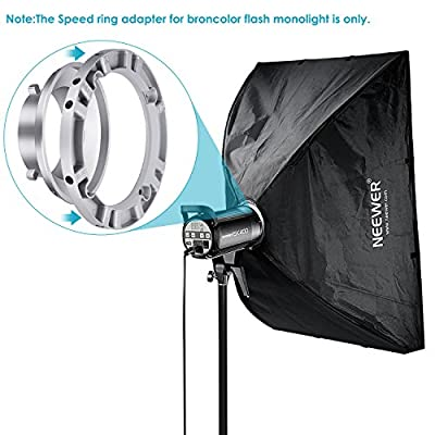 Neewer Softbox Speed Ring Adapter for Bowens Monolight Flash and Soft Box Aluminum Alloy inches centimeters Inner Diameter And inches centimeters Outer Diameter
