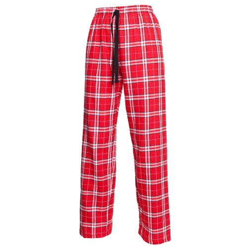 Boxercraft Plaid 100% Cotton Flannel Pant F20, Red/White/Black - Youth Medium… (Kinder Valentine Schlafanzug)