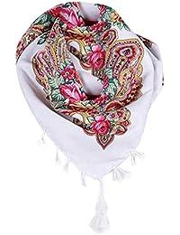 7cd19361e94 ITISME ÉCharpeFemmes Nouveau Mode Automne Hiver Floral Gland ÉCharpe  Imprimé Tassel Hiver ChâLe