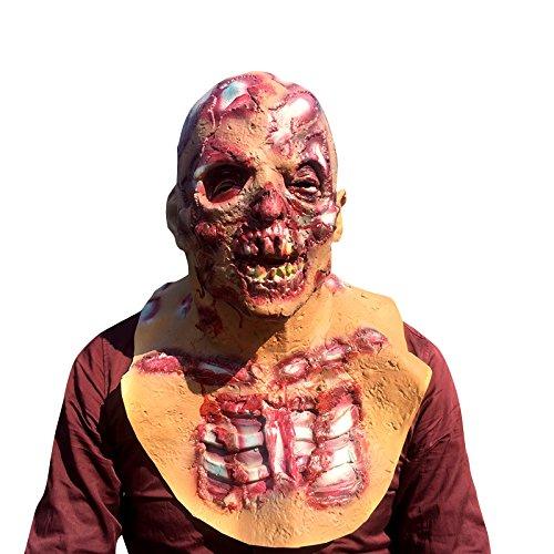The Walking Dead Zombie Horror grusel Maske - perfekt für Fasching, Karneval & Halloween - Kostüm für Erwachsene - Latex, Unisex Einheitsgröße (Halloween, Maske Zombie)