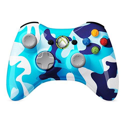 XBOX 360 Regler Wireless-glänzende blaue Wasser camo Individuelle Painted- ohne - 360 Controller Camo Wireless Xbox