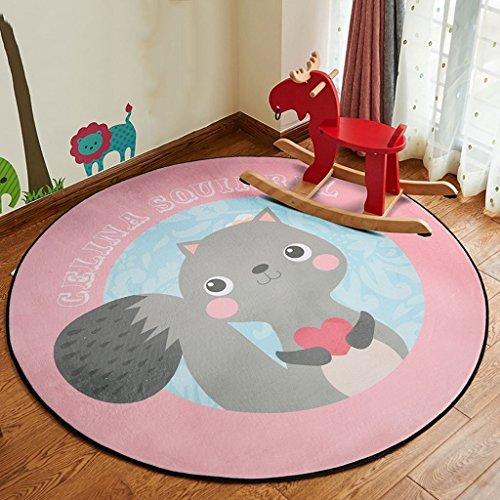 MOMO Teppich Runde Teppich Cartoon Kinder Decke Wohnzimmer Schlafzimmer Zimmer Nachttisch Teppich Hängenden Korb Computer Stuhl Mat,Durchmesser 100 cm