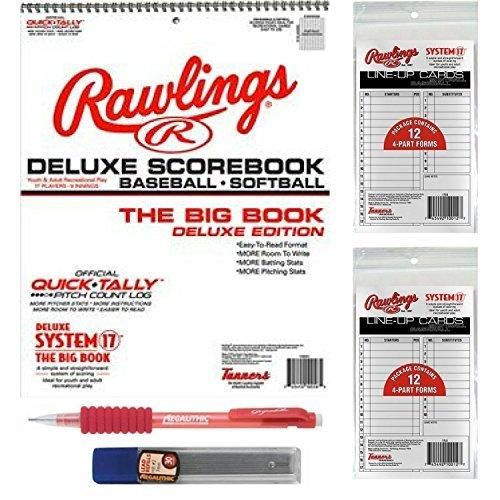 Rawlings großer baseball/softball score gebündelt mit 24 lineup karten und 5 bleistifte