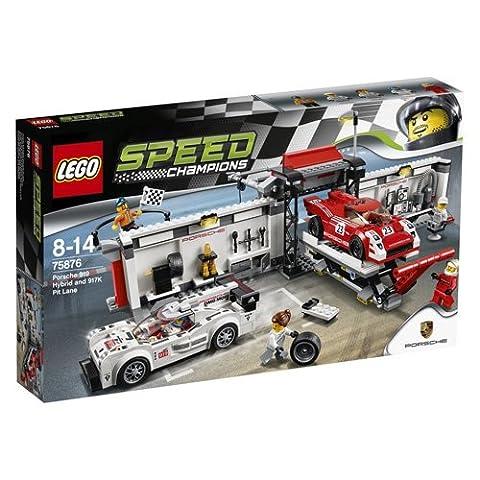 LEGO 75876 Speed Champions Porsche 919 Hybrid and 917K Pit Lane Set