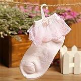 OME&QIUMEI Baby Baumwolle Socken Schleifen Spitze Ohne Knochen Socken Jungen Und Mädchen Weiß Mesh Im Alter Von 2-4 (10 Paare)