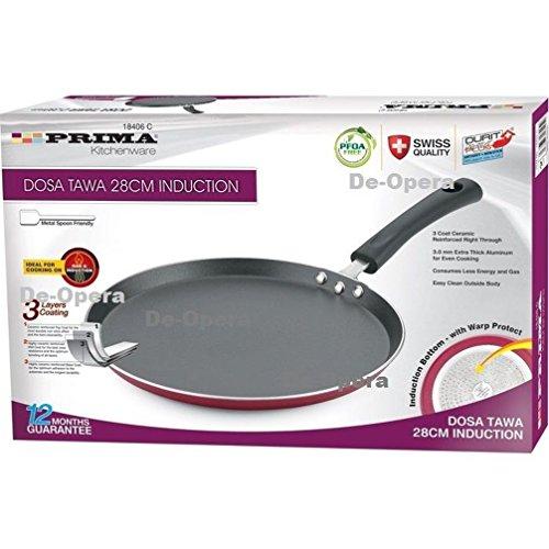 Heavy Duty Dosa Tawa Bratpfanne Pancake Roti Brot Maker Ei fryerflat Brot Style 30cm Nonstick Dosa Tawa (Food-styling-tools)